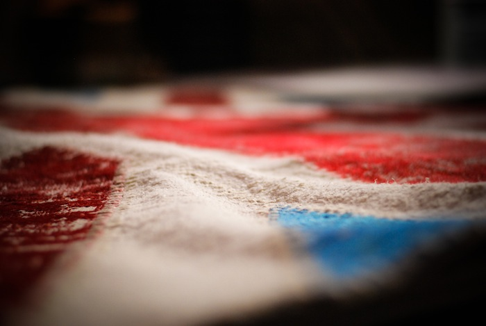 textures american flag upclose