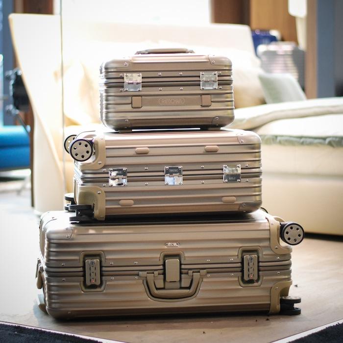 rimowa luggage set interior design show jetsetters closet jetset justine