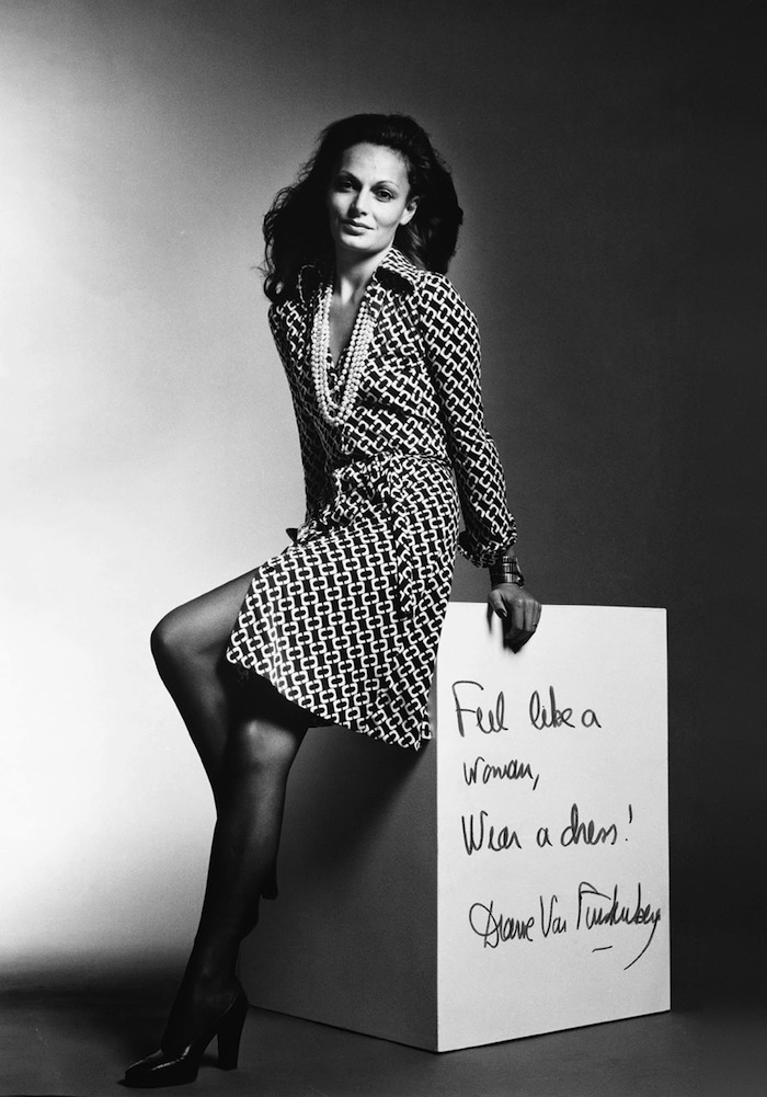 diane von furstenberg dvf feel like a woman wear a dress quote of the day
