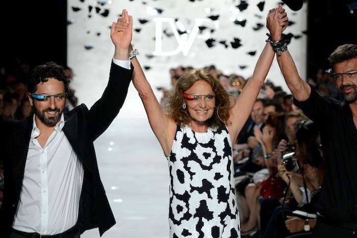 diane von furstenberg google glass eye runway trend fashion