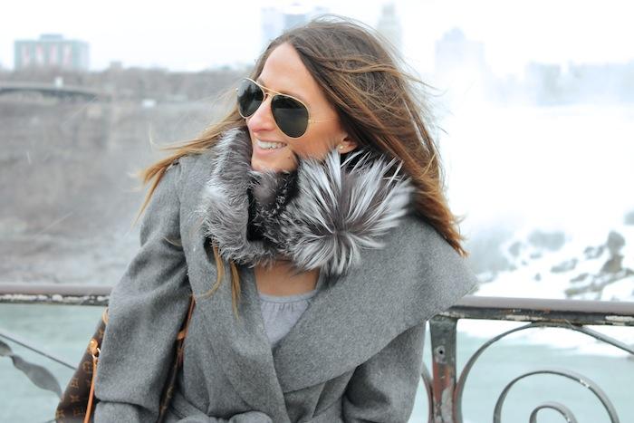 grey silver fox niagara falls street style outfit