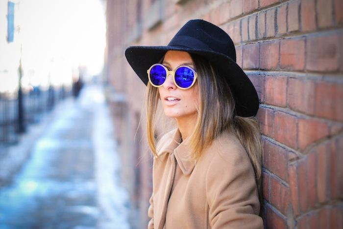 reflective sunglasses street style