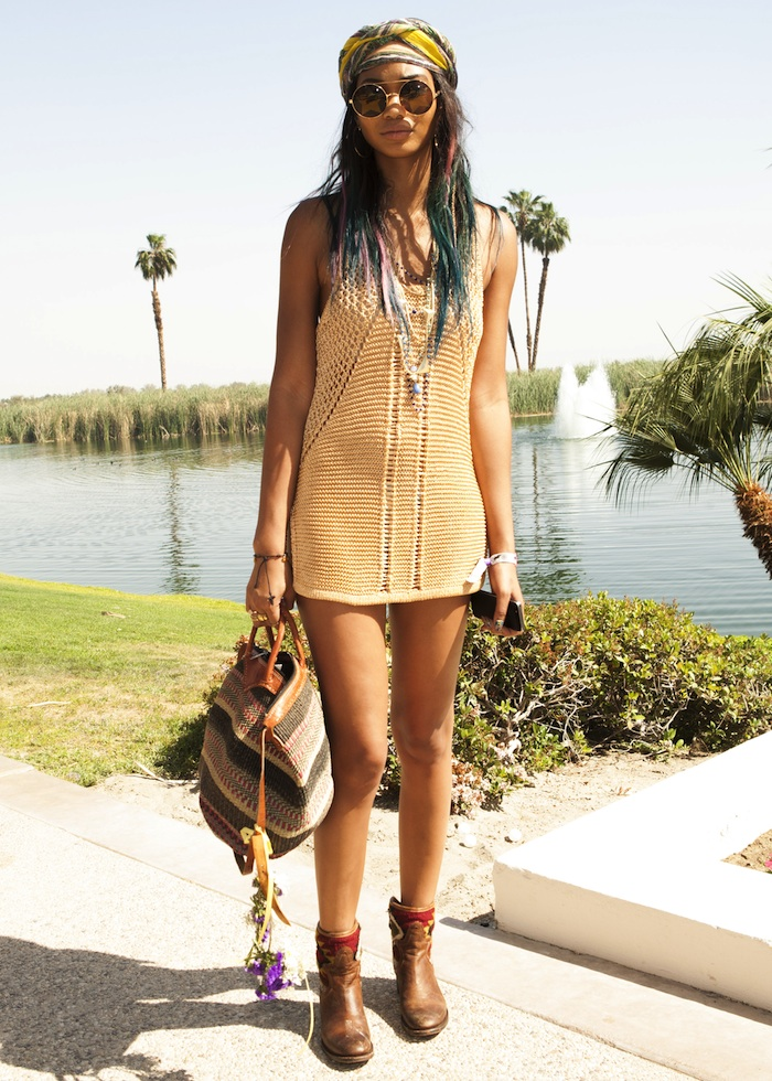 Model Chanel Iman attends the Spotify Brunch at Soho Desert House with Bacardi Day 2
