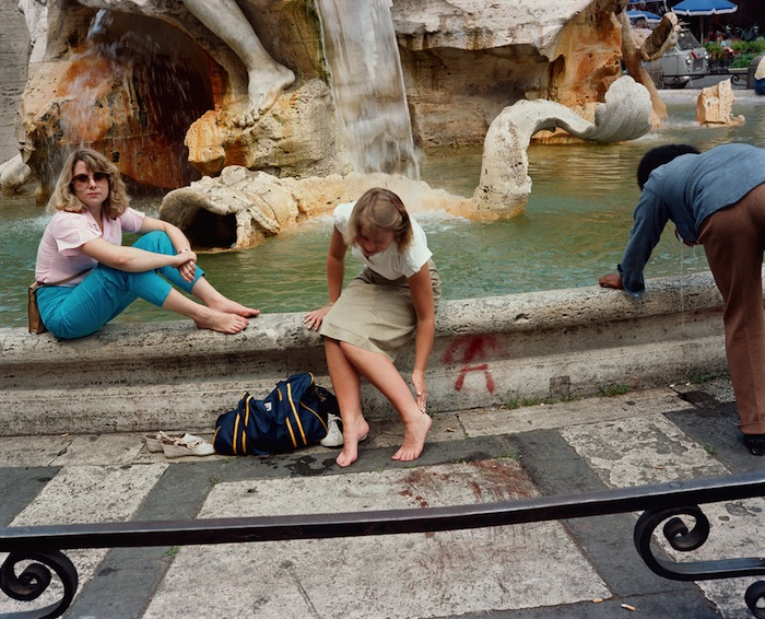 trevi fountain vintage photograph