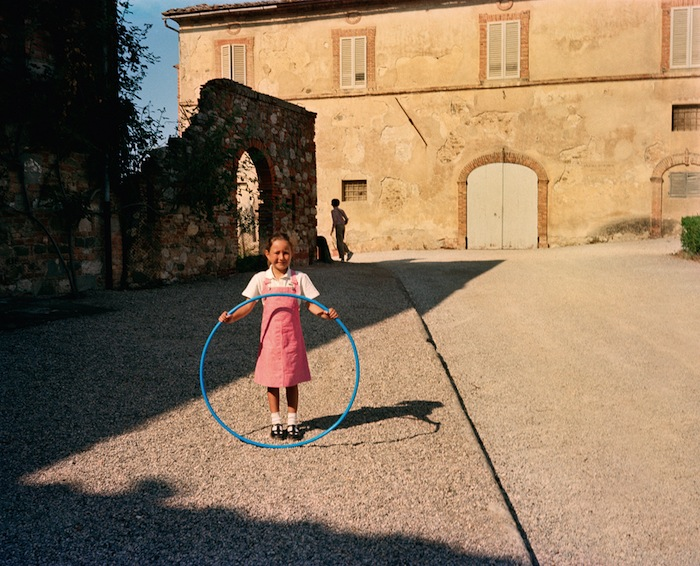 girl with hula hoop in italy