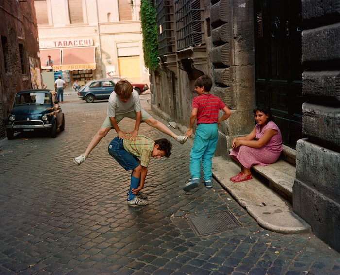 kids playing in the streets of rome