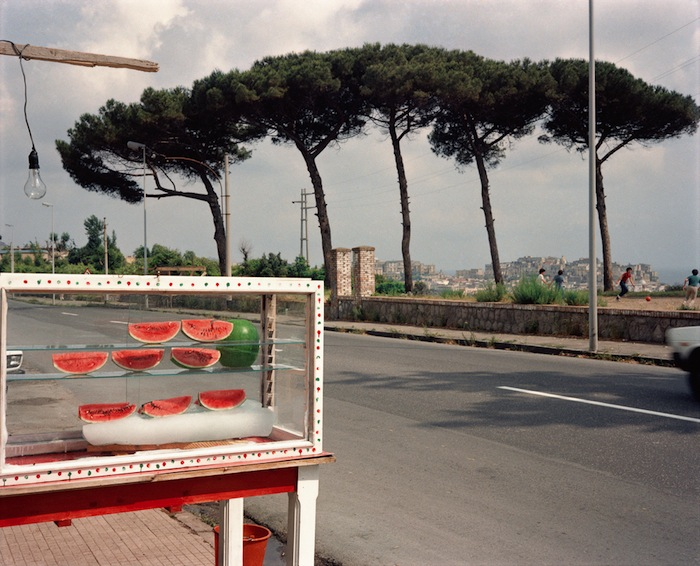 watermelon stand in naples vintage italian photography