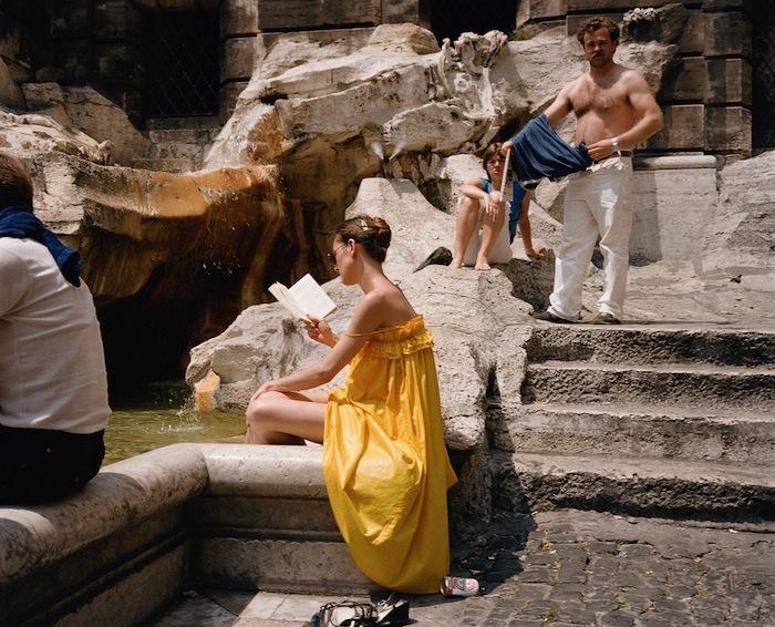 charles traub dolce vita woman in trevi fountain