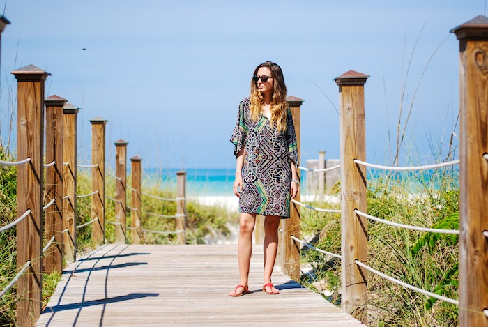 Justine Iaboni tunic on the beach 1