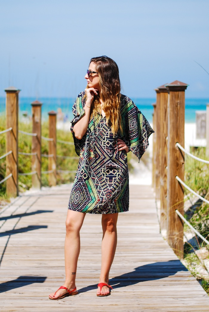 Justine Iaboni tunic on the beach 2