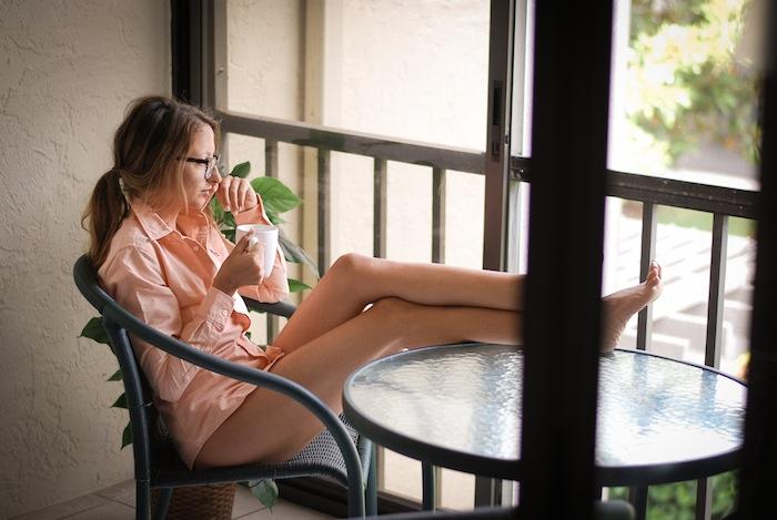 girl drinking coffee tumblr style shirt