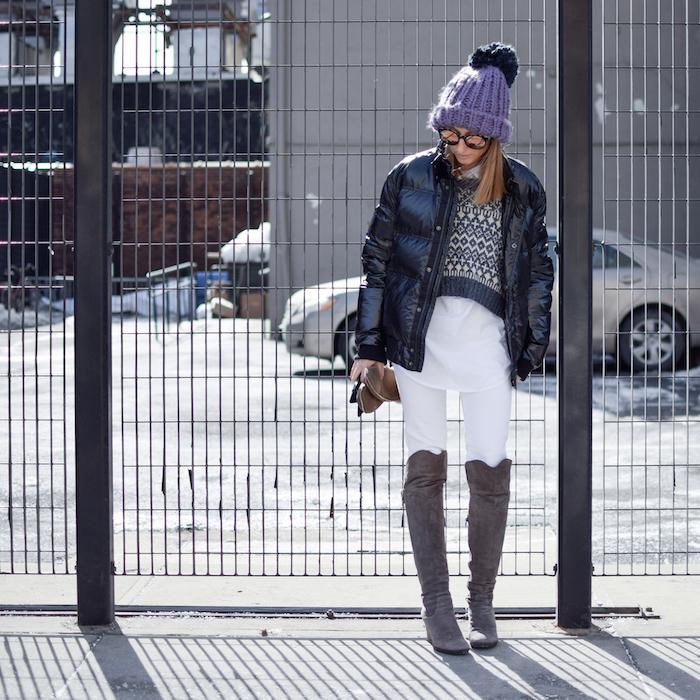 NYFW Street Style Justine Iaboni Bazzul Sweater 06