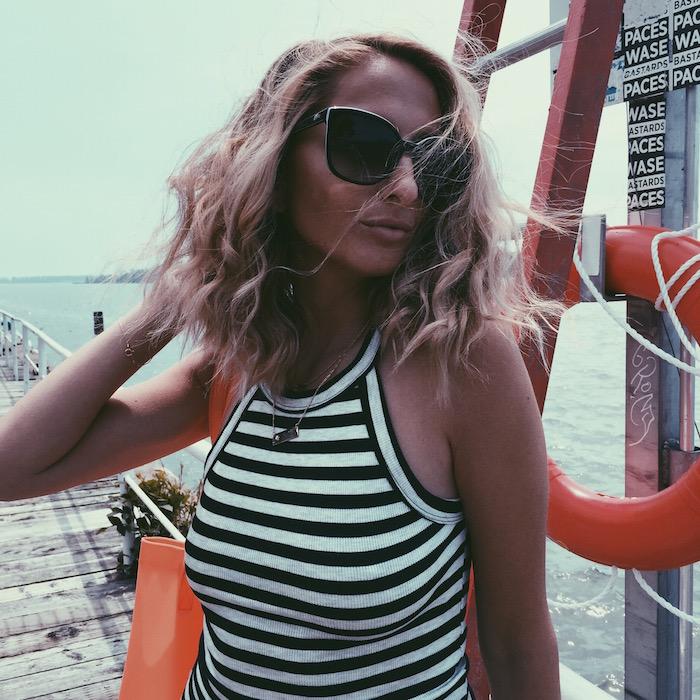 Taudrey Jewelry Nautical outfit justine iaboni toronto style blogger influencer