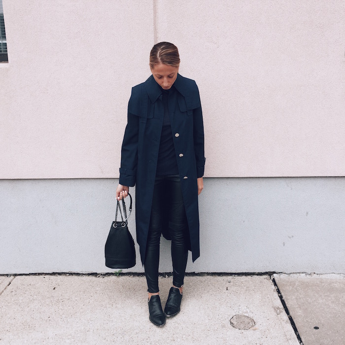 Trench Coat Outfit Toronto Fashion Blogger Jetset Justine