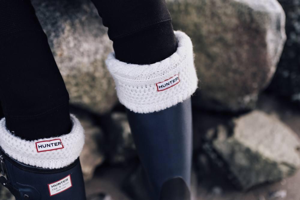 Hunter boots close up