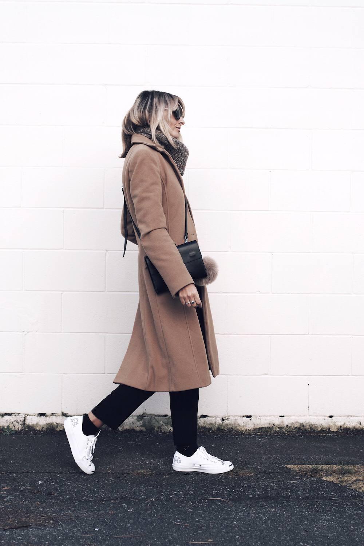 camel coat style