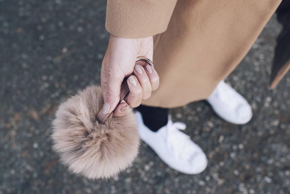 fur pompom detailed shot