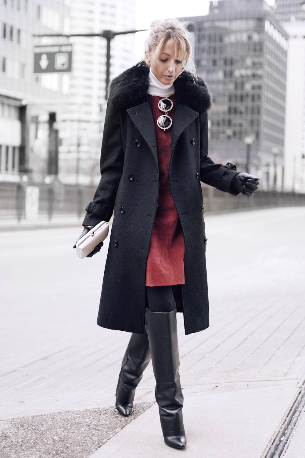 black trench coat wardrobe ideas
