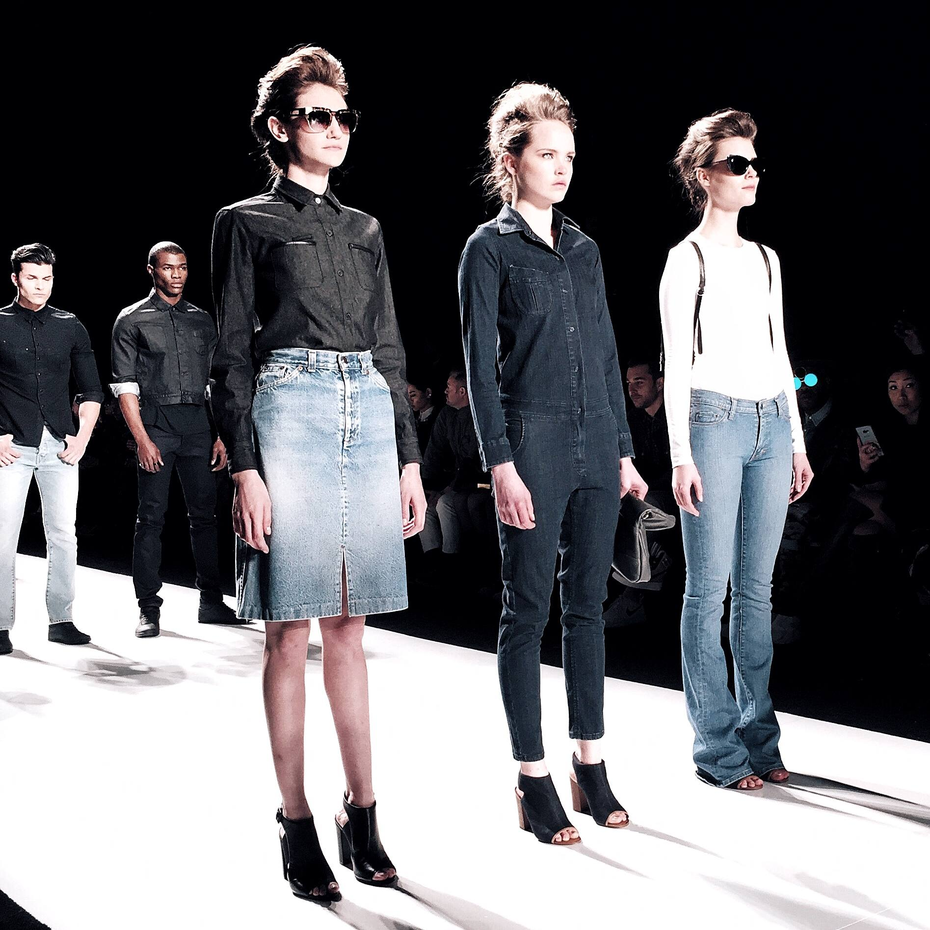 Denim runway trends