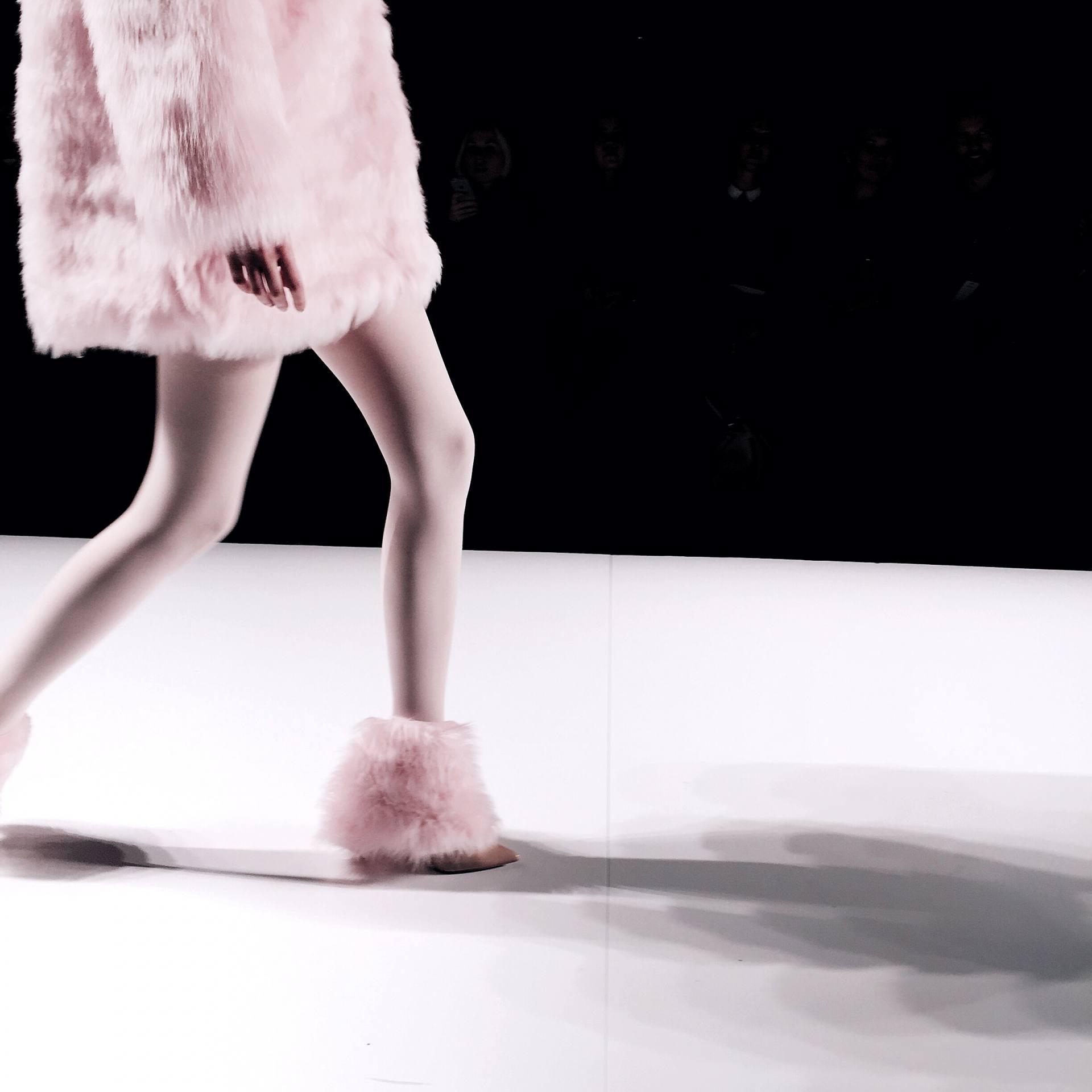 Pink fur runway