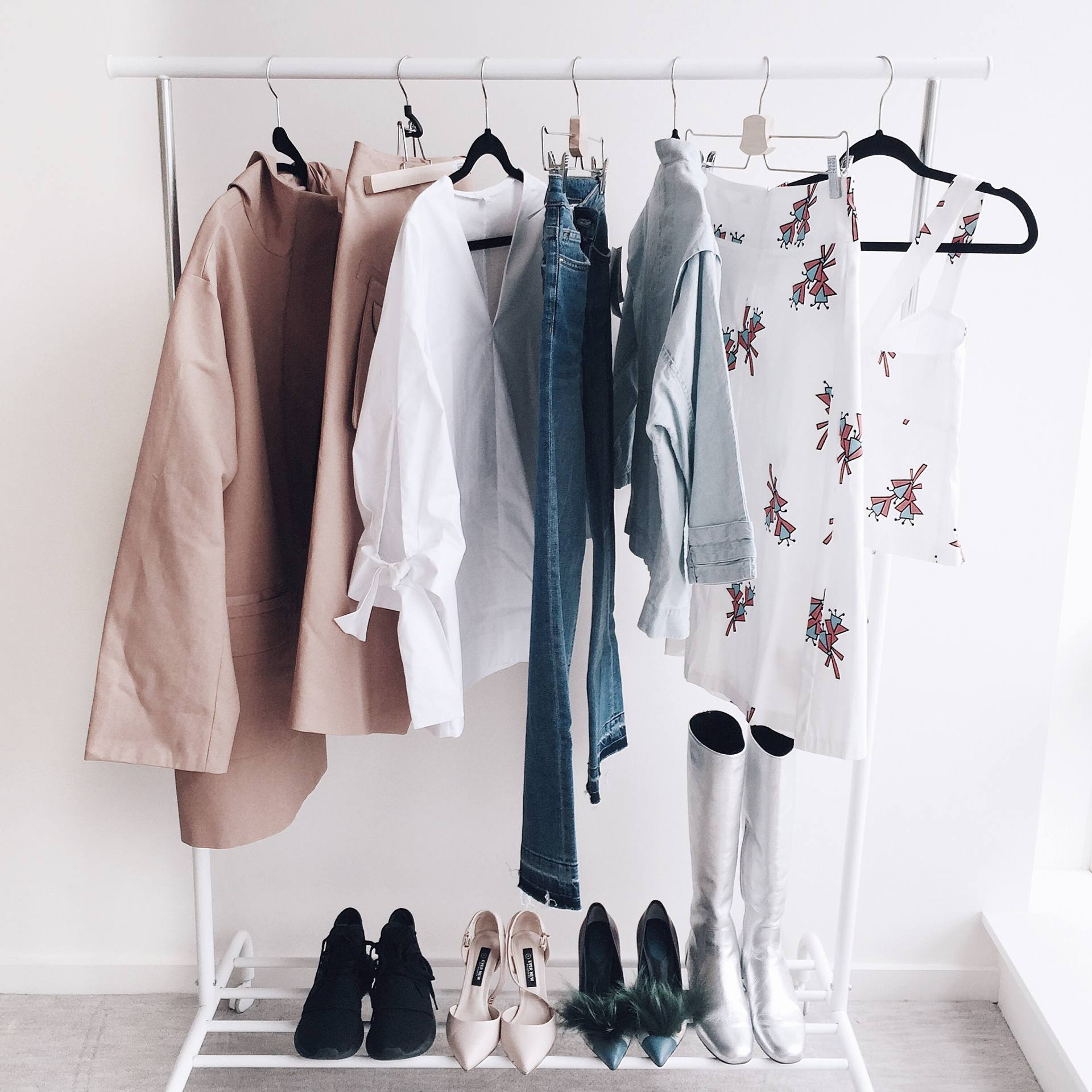 Clothing Rack Wardrobe Inspo Justine