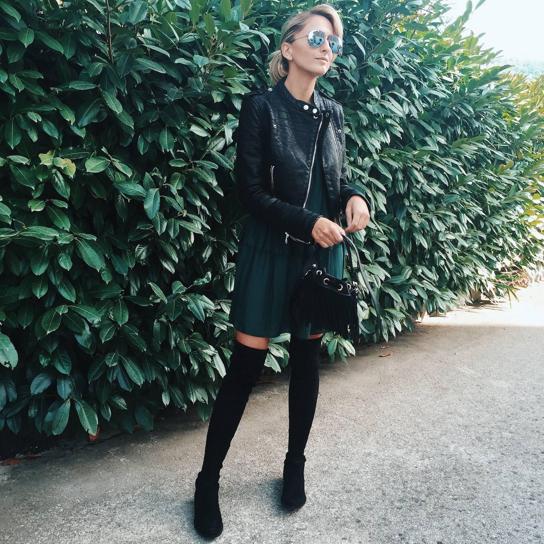 Black Biker Jacket outfit 02