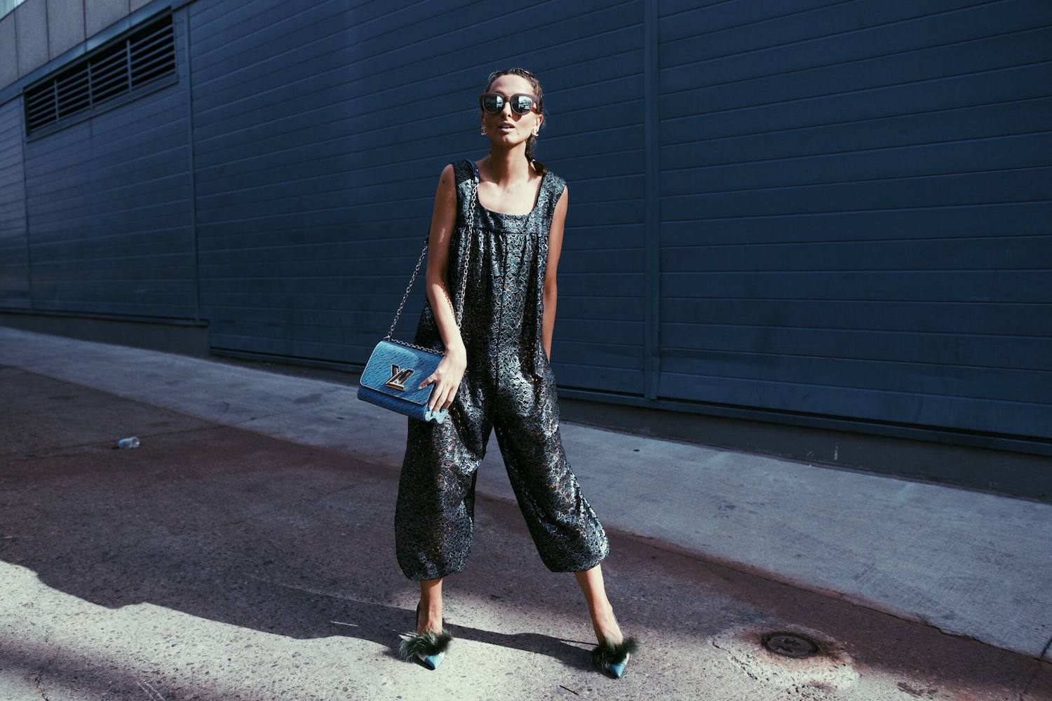 Chanel Jumpsuit, Fendi Bag Bug Shoes, Louis Vuitton Epi Leather Twist, Boxer Braids 11