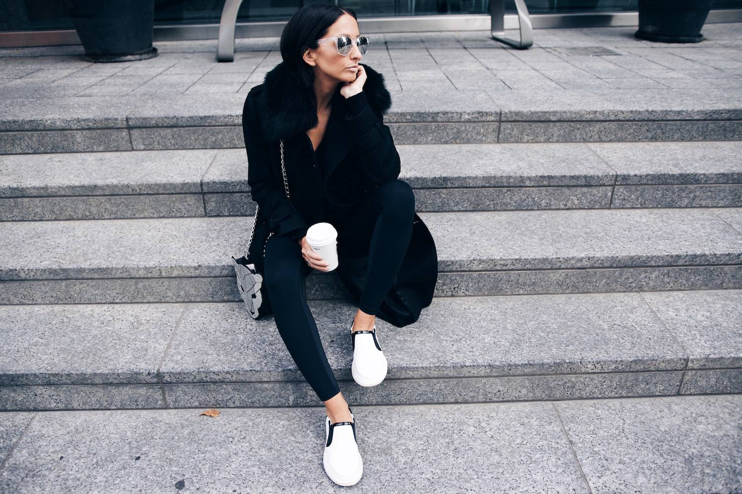 An Easy Way to Style Leggings with Killer Sneakers