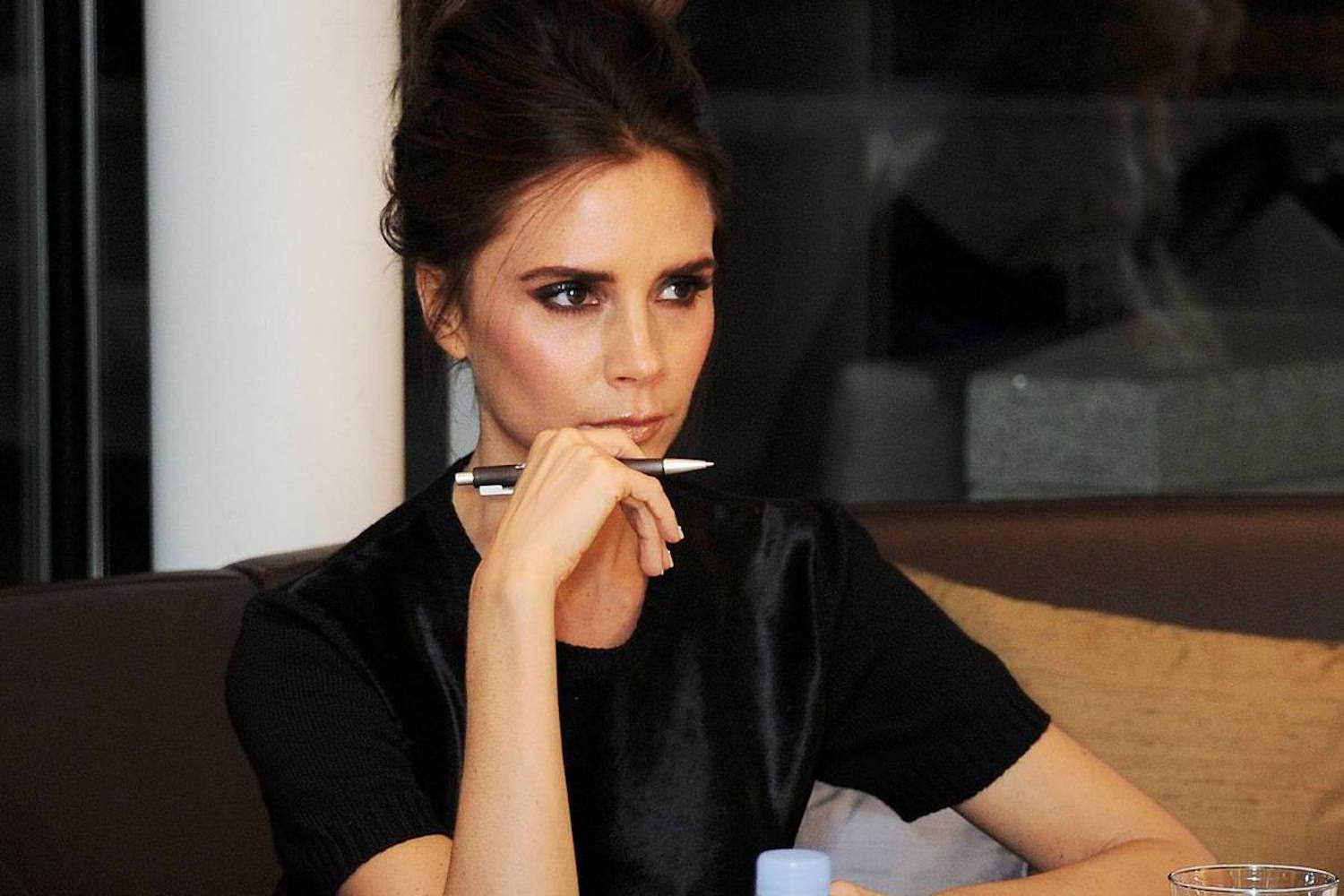 victoria beckham at work